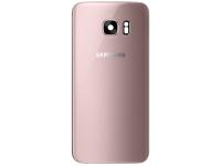 Capac Baterie Roz Auriu cu geam camera, Swap Samsung Galaxy S7 G930