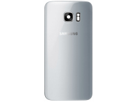 Capac Baterie Argintiu cu geam camera / blitz, Swap Samsung Galaxy S7 edge G935