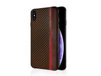 Husa Piele - TPU OEM Carbon Mulsae pentru Apple iPhone 7 / Apple iPhone 8, Maro, Bulk