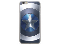 Husa TPU Marvel Captain America 005 pentru Apple iPhone 6 / Apple iPhone 6s / Apple iPhone 7 / Apple iPhone 8, Albastra, Blister
