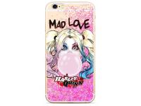 Husa TPU DC Comics Harley Quinn 001 pentru Apple iPhone XS, Roz, Blister