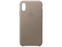 Husa Piele Apple iPhone XS / Apple iPhone X, Cafenie, Blister AP-MRWL2ZM/A