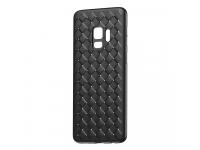 Husa TPU Baseus Weave pentru Samsung Galaxy S9 G960, Neagra, Blister WISAS9-BV01