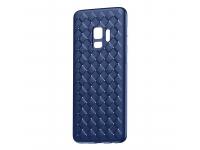 Husa TPU Baseus Weave pentru Samsung Galaxy S9 G960, Albastra, Blister WISAS9-BV15