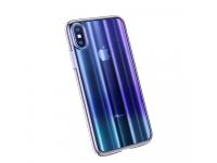 Husa Plastic Baseus Aurora Ombre pentru Apple iPhone X / Apple iPhone XS, Albastra, Blister WIAPIPH58-JG03