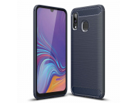Husa TPU OEM Carbon pentru Samsung Galaxy A30 A305 / Samsung Galaxy A20 A205, Bleumarin