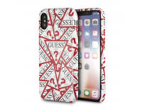 Husa TPU Guess Triangle ALL OVER pentru Apple iPhone X / Apple iPhone XS, Alba, Blister GUHCPXPMPT