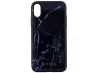Husa TPU Guess Marble pentru Apple iPhone X / Apple iPhone XS, Neagra, Blister GUHCPXHYMABK