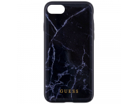 Husa TPU Guess Marble pentru Apple iPhone 7 / Apple iPhone 8, Neagra, Blister GUHCI8HYMABK