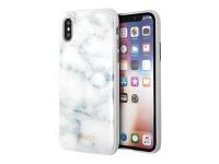 Husa TPU Guess Marble pentru Apple iPhone X / Apple iPhone XS, Alba, Blister GUHCPXHYMAWH