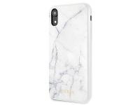 Husa TPU Guess Marble pentru Apple iPhone XR, Alba, Blister GUHCI61HYMAWH