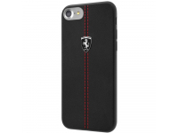 Husa TPU Guess Ferrari Heritage pentru Apple iPhone 7 / Apple iPhone 8, Neagra, Blister FEHDEHCI8BK