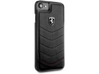 Husa TPU Ferrari pentru Apple iPhone 7 / Apple iPhone 8, Neagra, Blister FEHQUHCI8BK
