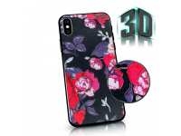 Husa Plastic - TPU OEM Retro Rose pentru Apple iPhone 7 / Apple iPhone 8, Multicolor, Blister