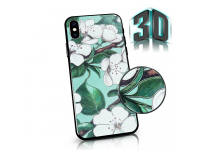 Husa Plastic - TPU OEM Spring Flowers pentru Apple iPhone 7 / Apple iPhone 8, Verde, Blister