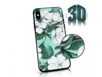 Husa Plastic - TPU OEM Spring Flowers pentru Apple iPhone X / Apple iPhone XS, Verde, Blister