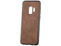Husa Piele - Plastic OEM Business pentru Samsung Galaxy S9 G960, Maro, Blister