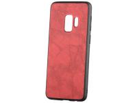 Husa Piele - Plastic OEM Business pentru Samsung Galaxy S9 G960, Rosie, Blister