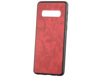 Husa Piele - Plastic OEM Business pentru Samsung Galaxy S10 G973, Rosie, Blister