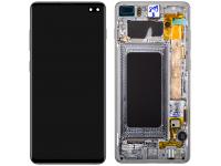 Display - Touchscreen Samsung Galaxy S10+ G975, Cu Rama, Negru (Prism Black) GH82-18849A