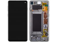 Display - Touchscreen Samsung Galaxy S10 G973, Cu Rama, Negru (Prism Black) GH82-18850A