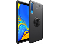 Husa TPU Lenuo Invisible Holder pentru Samsung Galaxy A7 (2018) A750, Bleumarin, Blister