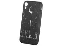 Husa TPU OEM Frosted Moon Climebrs pentru Apple iPhone XR, Neagra, Bulk
