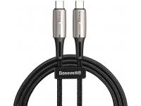 Cablu Date si Incarcare USB Type-C la USB Type-C Baseus Woven, QC 3.0, 2 m, Negru, Blister
