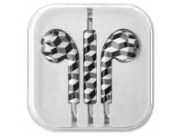 Handsfree Casti EarBuds OEM Romb, Cu microfon, 3.5 mm, Alb - Negru, Blister