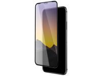 Folie Protectie Ecran HOCO pentru Apple iPhone XS Max, Sticla securizata, Full Face, Full Glue, Mirror A15, Neagra, Blister