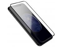 Folie Protectie Ecran HOCO pentru Apple iPhone X / Apple iPhone XS, Sticla securizata, Full Face, Full Glue, 3D Nano A12, Neagra, Blister