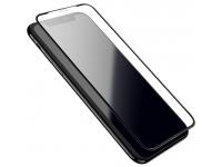 Folie Protectie Ecran HOCO pentru Apple iPhone X / Apple iPhone XS, Sticla securizata, Full Face, Edge Glue, Shatterproof A1, Neagra, Blister