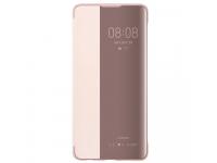Husa Poliuretan Huawei P30, Flip View Cover, Roz, Blister 51992862