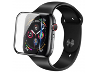 Folie Protectie Ecran Nillkin pentru Apple Watch Series 4 40mm, Sticla securizata, 3D AW+,0.33mm, 9H, Blister