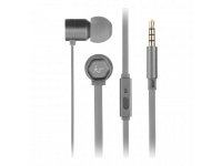 Handsfree Casti In-Ear KitSound Hive Buds, Cu microfon, 3.5 mm, Gri, Blister KSHIVBGY