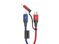 Cablu Date si Incarcare USB la Lightning - USB la MicroUSB Joyroom S-M376, 1.3 m, Multicolor, Blister