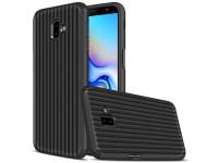 Husa Plastic - TPU OEM Travel Box pentru Samsung J6 Plus (2018) J610, Neagra, Bulk