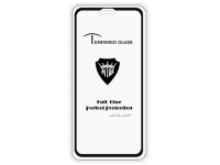 Folie Protectie Ecran Mietubl pentru Apple iPhone X / Apple iPhone XS, Sticla securizata, Full Face, Full Glue, Anti-fingerprint, Neagra, Blister