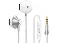 Handsfree Casti EarBuds PTM D31, Cu microfon, 3.5 mm, Argintiu, Blister