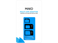 Adaptor SIM Mako Multi SIM, Negru, Blister