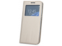 Husa Piele OEM Smart Look pentru Samsung Galaxy A30 A305 / Samsung Galaxy A20 A205, Aurie