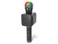 Microfon Karaoke Cu Difuzor Bluetooth Forever BMS-400, LED RGB Multicolor,  Negru, Blister