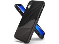 Husa Plastic - TPU Ringke Wave pentru Apple iPhone XS Max, Gri - Neagra, Blister WVAP0022
