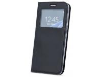 Husa Piele OEM Smart Look pentru Samsung Galaxy A50 A505, Neagra, Bulk
