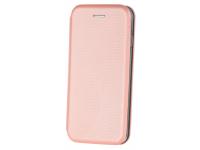 Husa Piele OEM Smart Verona pentru Samsung Galaxy A50 A505, Roz Aurie, Bulk