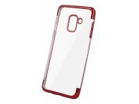 Husa TPU OEM Electro pentru Samsung Galaxy A50 A505, Rosie - Transparenta, Bulk