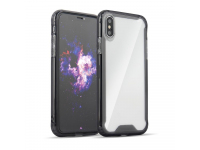 Husa TPU OEM Antisoc Armor pentru Samsung Galaxy A50 A505, Neagra - Transparenta, Bulk