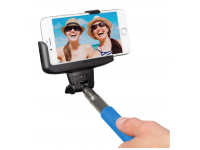 Selfie Stick KitVision extensibil cu declansator camera Bluetooth si suport de telefon,  Albastru, Blister BTSSPHBL