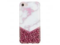 Husa TPU OEM Rose Flash Marble pentru Apple iPhone 7 / Apple iPhone 8, Multicolor, Bulk