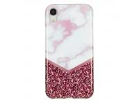 Husa TPU OEM Rose Flash Marble pentru Apple iPhone XR, Multicolor, Bulk